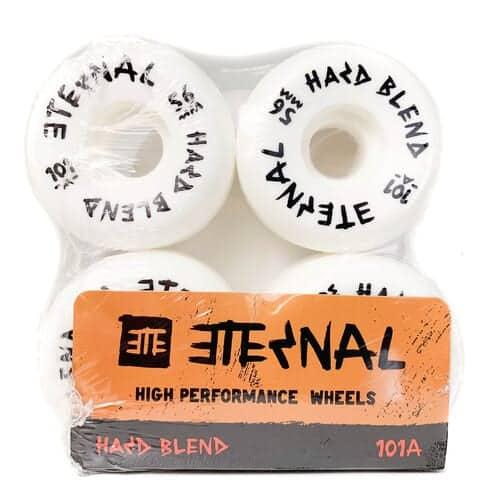56mm Eternal Skateboard Wheels 101a Hard Blend